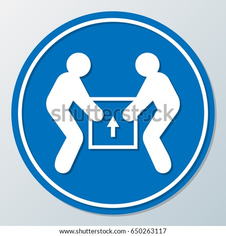 Human Help Together Lifting Box with Careful