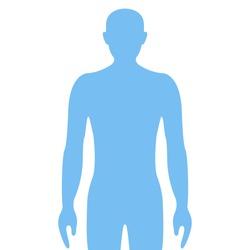Human icon. Graphic template. Vector illustration