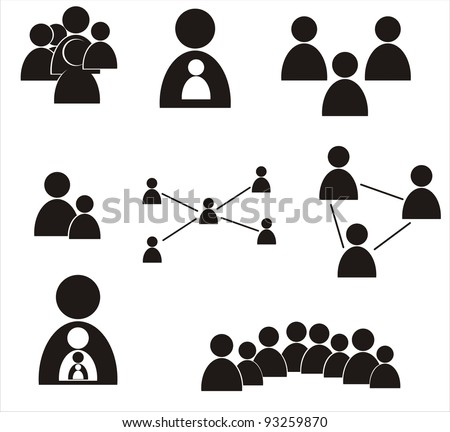 human icons - stock vector