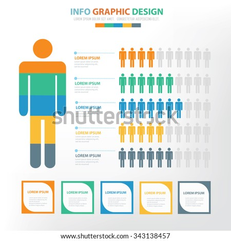 Human Infographic elements design,clean vector