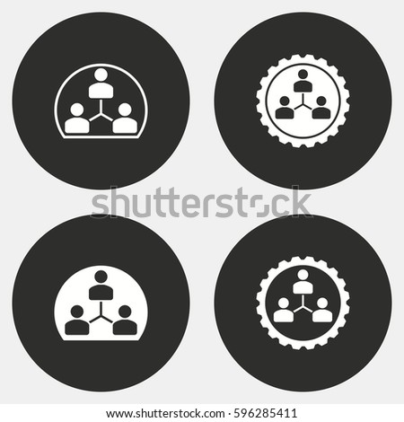 Human interaction vector icons set. White illustration isolated for graphic and web design.