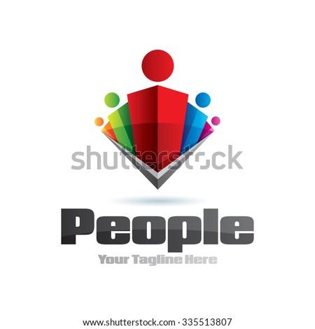 Human Leader Group Icon Logo Element