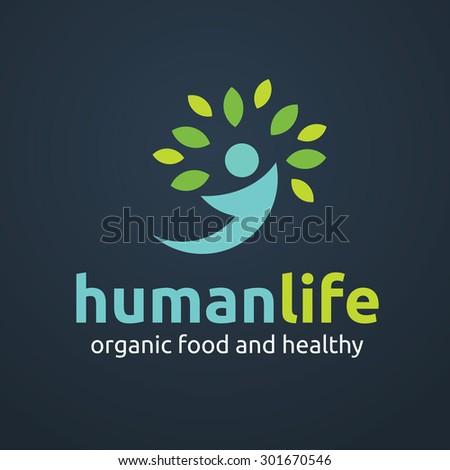 Human life logo template