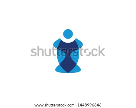 Human logo set modern color style for use business company, personal development, self-knowledge etc. I letter logo.