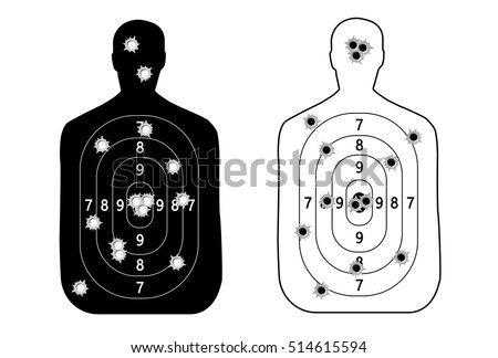 human man  set shooting range