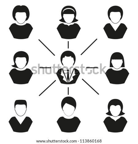 Human  management. Vector. EPS-10 (non transparent elements,non gradient)