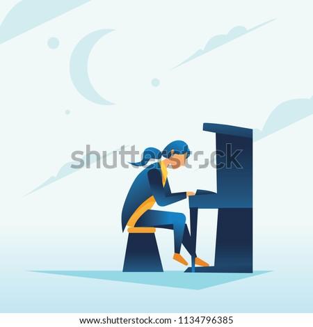 human metronome playing piano
