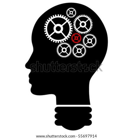 human mind vector illustration