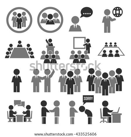 human office icon set #433525606