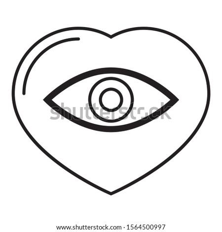 Human Organ Eye Donation Vector Icon design Concept