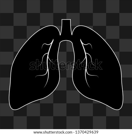 Human organs vector icon. Realistic human organs icon on transparent background.