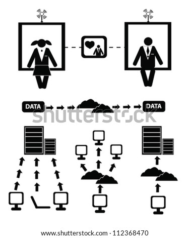 Human resource and network concept,icon set,Vector