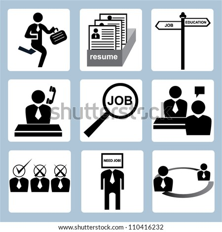 human resource and recruitment icon