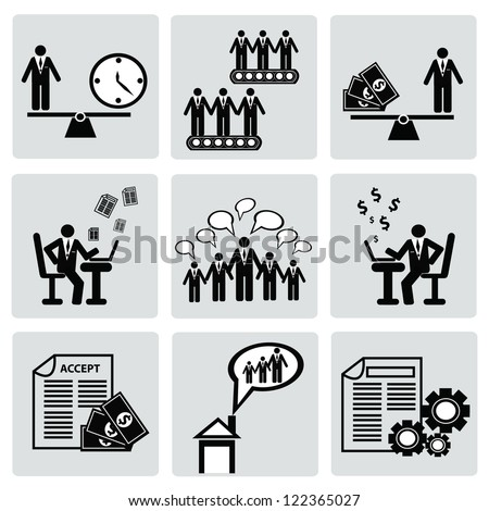 Human resource,Business man concept,icon set,Vector