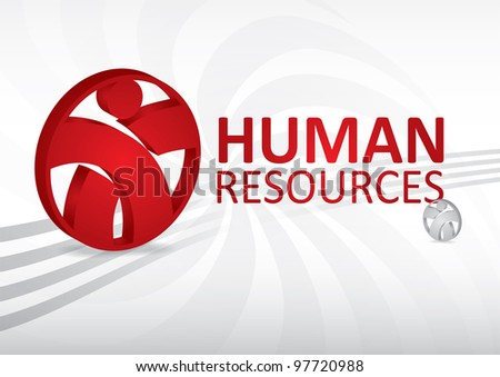 Human resource concept - abstract template with sign