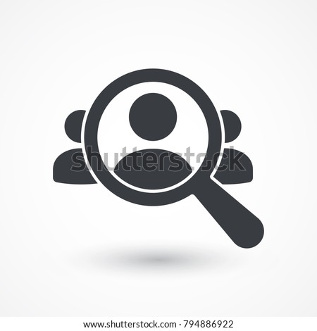 Human Resource Icon. Audience, businessman, group, human resources, market, research, targeting icon