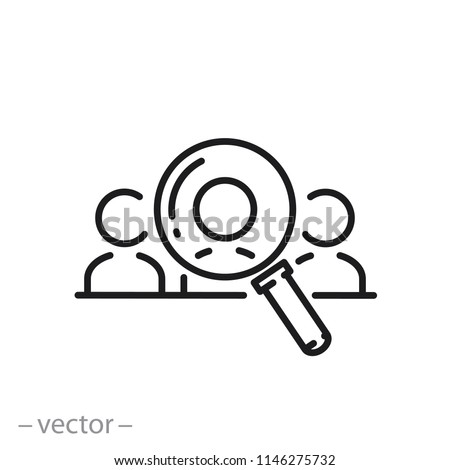 Human resource icon, recruit linear sign isolated on white background - editable vector illustration eps10