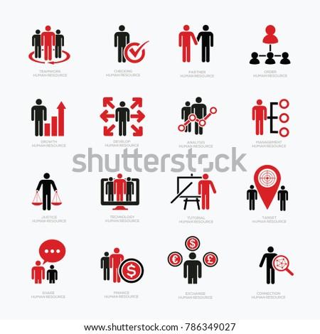Human resource icon set design