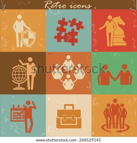 human resource icon set on...