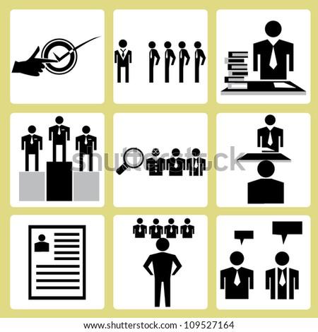 human resource icon, vector