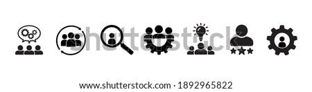 Human resource icons, set. Business people, human resources. Flat business icons, management icons. Vector illustration. Foto stock ©