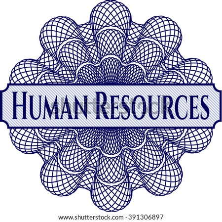 Human Resources abstract linear rosette