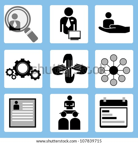 Human Resources Vector Human Resources Allocation of