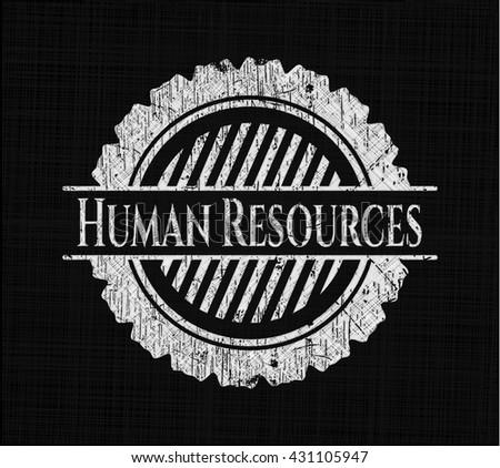 Human Resources chalk emblem