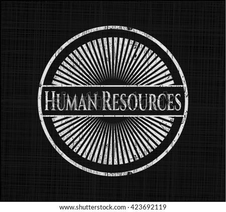 Human Resources chalkboard emblem