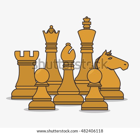 human resources chess pieces design isolated #482406118