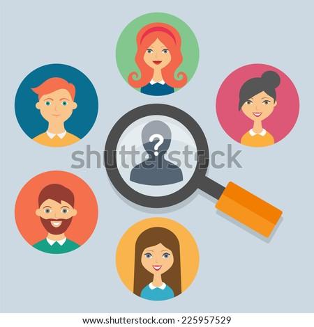 Human resources concepts, vector illustration