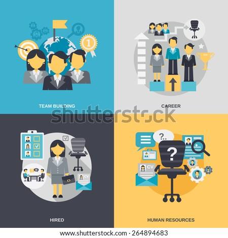 human resources design concept