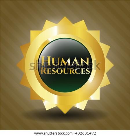 Human Resources gold shiny emblem