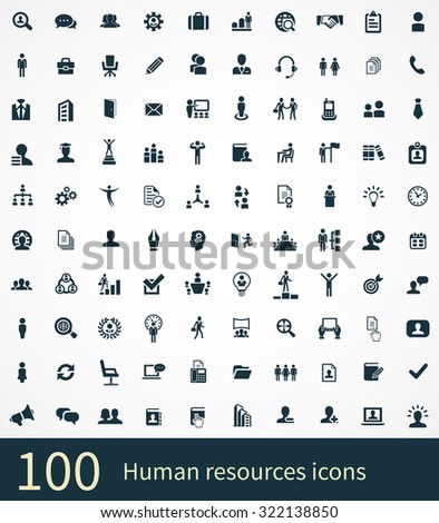 human resources Icons Vector set