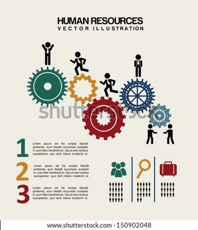 human resources over white background vector illustration Сток-фото ©