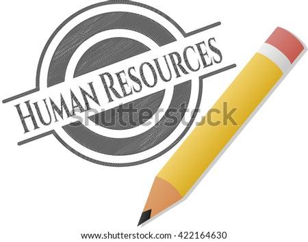 Human Resources pencil emblem