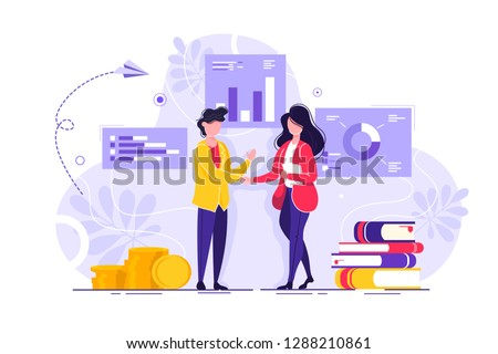 Human Resources, Recruitment Concept for web page, banner, presentation, social media, documents, cards, posters. Vector illustration, interviewing, assessment, recruitment agency. hiring employee.