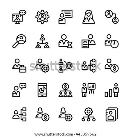 Human Resources Vector Icons 1 #445359562