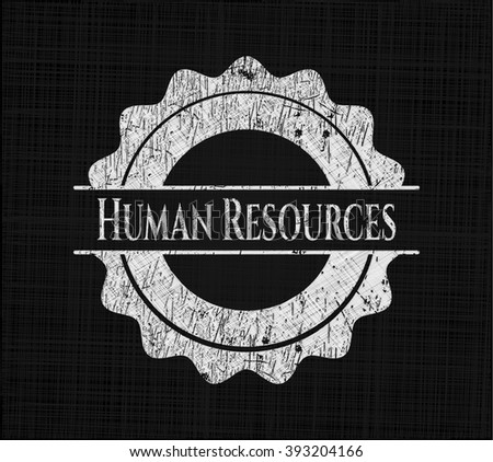Human Resources written with chalkboard texture