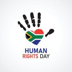 Human Rights Day. Africa national flag love