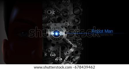 human robot communicates the