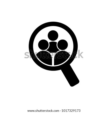 Human Search Logo Vector Template Design