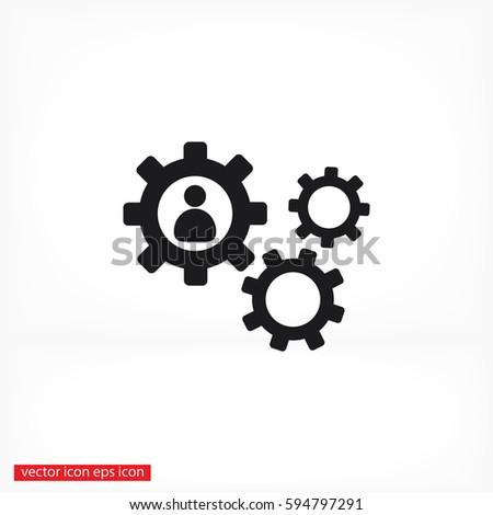 human settings icon vector