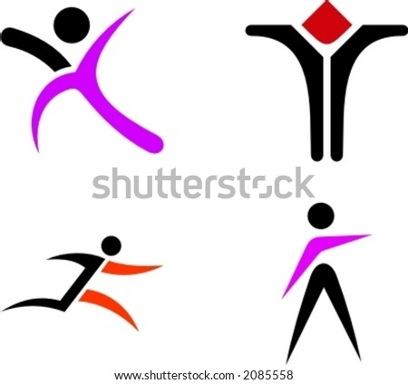 human shape design - stock vector
