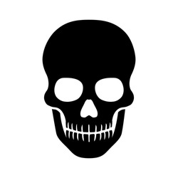 Human skull / death or dead flat vector icon for games and websites
