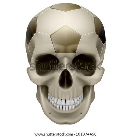 human skull football design