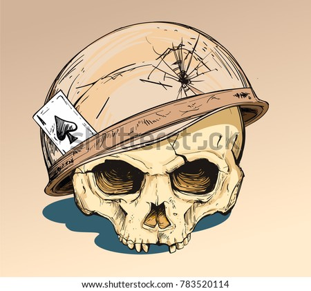 human skull in the military