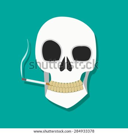 human smoker skull hold