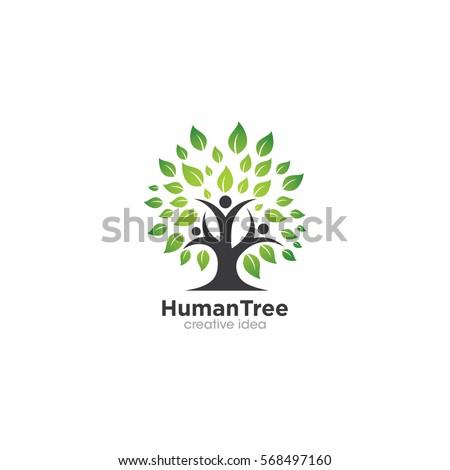 human tree creative concept