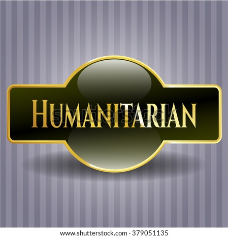 Humanitarian shiny badge